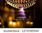 wedding cake at reception | Shutterstock . vector #1273785544