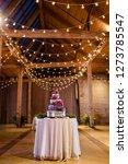 wedding cake at reception | Shutterstock . vector #1273785547