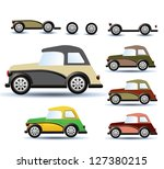 various variants of a car on a... | Shutterstock .eps vector #127380215