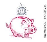 piggy bank | Shutterstock .eps vector #127381751