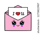 cartoon kawaii love letter | Shutterstock .eps vector #1273822987