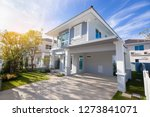 beautiful exterior of newly... | Shutterstock . vector #1273841071