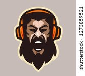 angry scream man with beard and ... | Shutterstock .eps vector #1273859521