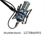 Microphone Isolated On White...