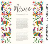 colorful mexican traditional... | Shutterstock .eps vector #1273872841