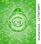 assorted realistic green mosaic ... | Shutterstock .eps vector #1273873897