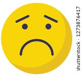 sad  weeping vector isolated... | Shutterstock .eps vector #1273876417
