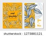 card templates leaf...   Shutterstock .eps vector #1273881121