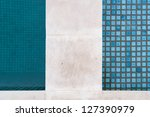 detail of swimming pool edge | Shutterstock . vector #127390979