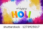 3d colorful text holi on color... | Shutterstock .eps vector #1273925017