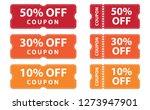 coupons discount banner 50   30 ... | Shutterstock .eps vector #1273947901