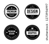 vintage badge design | Shutterstock .eps vector #1273956997