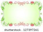 floral horizontal green frame | Shutterstock . vector #127397261