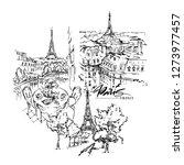 paris illustration. vector... | Shutterstock .eps vector #1273977457