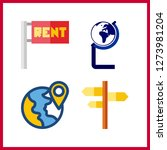 4 continent icon. vector...   Shutterstock .eps vector #1273981204