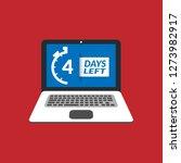 4 days left sign | Shutterstock .eps vector #1273982917