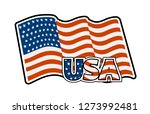 us flag colored badge vector... | Shutterstock .eps vector #1273992481