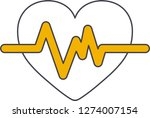 heart beating icon in web | Shutterstock .eps vector #1274007154