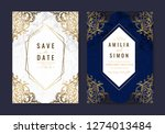 luxury wedding invitation cards ... | Shutterstock .eps vector #1274013484