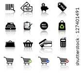 shopping icons | Shutterstock .eps vector #127401491