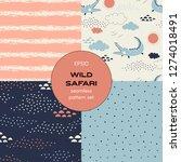 safari themed vector seamless... | Shutterstock .eps vector #1274018491