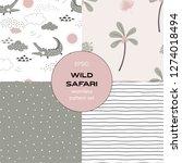 safari themed vector seamless... | Shutterstock .eps vector #1274018494