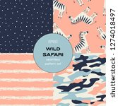 safari themed vector seamless... | Shutterstock .eps vector #1274018497