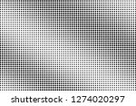 black and white halftone vector.... | Shutterstock .eps vector #1274020297