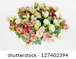 rose  on a white background. | Shutterstock . vector #127402394
