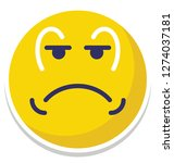 weeping  sad vector isolated... | Shutterstock .eps vector #1274037181