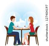 vector illustration of a loving ... | Shutterstock .eps vector #127404197