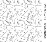 hand drawn dinosaurs and relict ... | Shutterstock .eps vector #1274042761