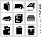 document icon set  stack of... | Shutterstock .eps vector #127405409