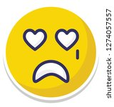 crying  weeping vector... | Shutterstock .eps vector #1274057557