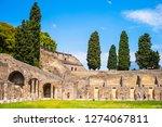 ancient ruins in pompeii ... | Shutterstock . vector #1274067811