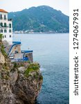 view of amalfi city in italy....   Shutterstock . vector #1274067931