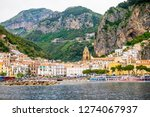 view of amalfi city in italy....   Shutterstock . vector #1274067937