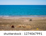 garbage and trash on the beach...   Shutterstock . vector #1274067991