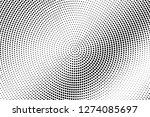black and white halftone vector.... | Shutterstock .eps vector #1274085697