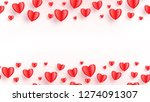 heart seamless background with... | Shutterstock .eps vector #1274091307