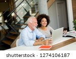 senior  businessman and young... | Shutterstock . vector #1274106187