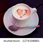 cappuccino coffee with heart... | Shutterstock . vector #1274108881