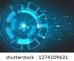 abstract blue technology...   Shutterstock .eps vector #1274109631