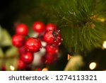 closeup of christmas ornaments... | Shutterstock . vector #1274113321
