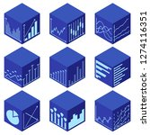 statistics icons in isometric... | Shutterstock .eps vector #1274116351