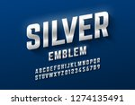 silver emblem style font ... | Shutterstock .eps vector #1274135491