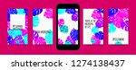 stories template design. tropic ... | Shutterstock .eps vector #1274138437