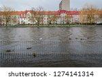 river and city    sunken...   Shutterstock . vector #1274141314