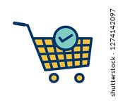 vector verified cart items icon  | Shutterstock .eps vector #1274142097