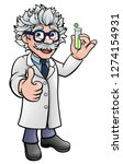 a cartoon scientist professor... | Shutterstock .eps vector #1274154931